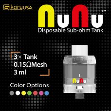 NUNU DISPOSABLE SUB-OHM TANK (3 PCS / PACK)